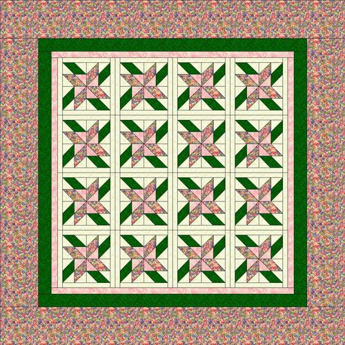 Fabric frenzy quilt square