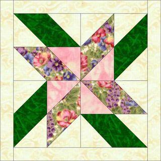 Bunny rose fabric frenzy block
